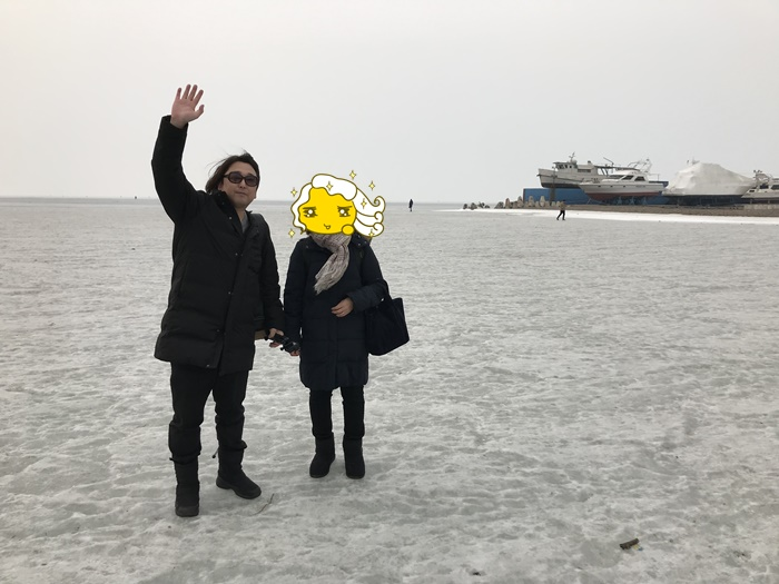 ウラジオストク凍った海
